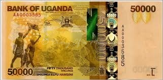 There's no mistaking a 50,000 shilling note